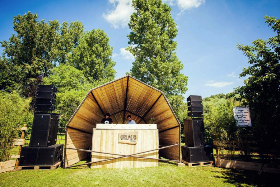 Dj Booth, created by Kevin Oyen, designer and artisan metalworker