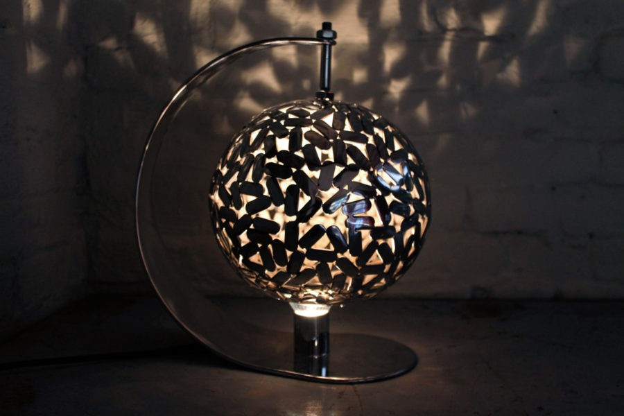 """""""Globe"""", mirror polished stainless steel, created by Kevin Oyen, designer and artisan metalworker"""