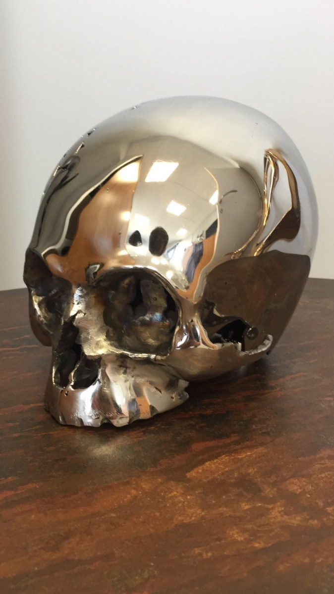 """""""Skull"""", created by Kevin Oyen, designer and artisan metalworker"""