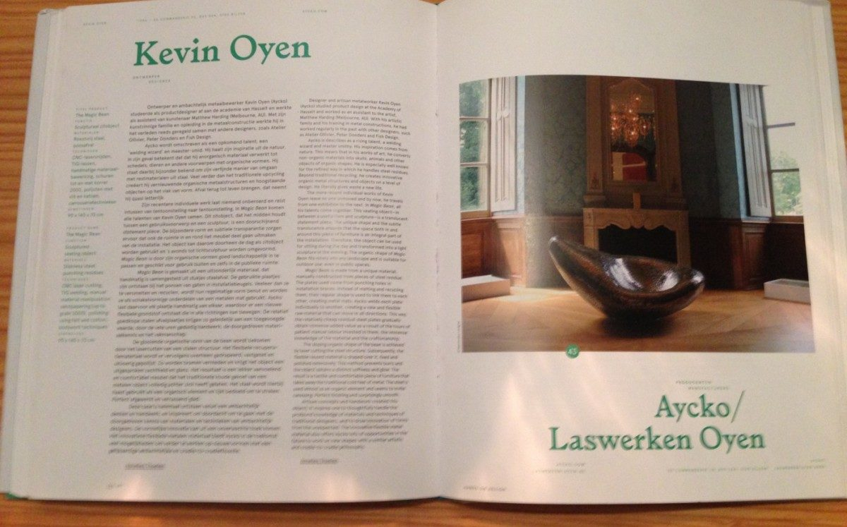 Kevin Oyen is a designer and a artisan metalworker